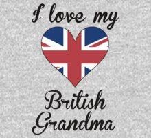 I Love My British Grandma Kids Tee