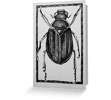 Design for beetle lino print Greeting Card