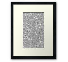 water in black and white Framed Print
