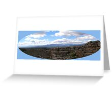 panorama of mycenaic citadel2 Greeting Card