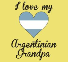 I Love My Argentinian Grandpa Kids Tee