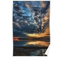 Sundown Swirls Poster