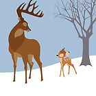 Bambi minimal poster by Zoe Toseland