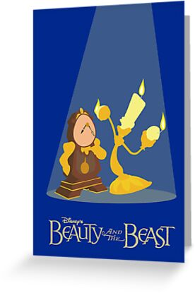 Beauty and the Beast minimal poster by Zoe Toseland