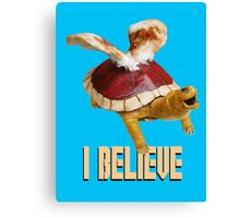I Believe: Real Koopa Taxidermy Canvas Print
