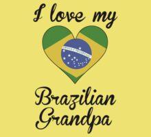 I Love My Brazilian Grandpa Kids Tee
