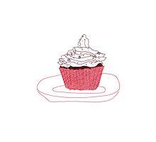 Red Velvet Vegan Cupcake iPhone/iPod Case by cmIllustration