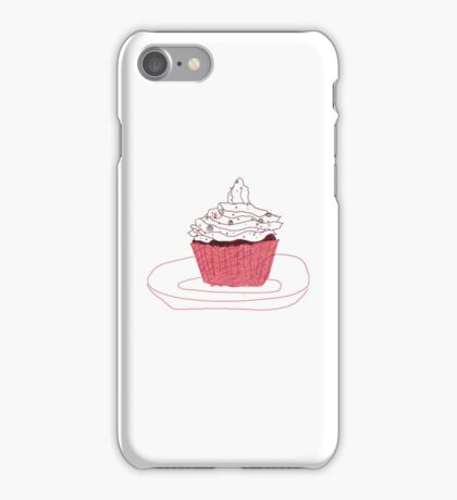 Red Velvet Vegan Cupcake iPhone/iPod Case iPhone Case/Skin