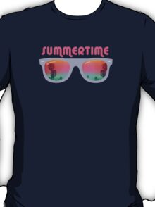 Summertime - Sunglasses T-Shirt