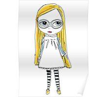 Blythe Doll cute toy art illustration Poster