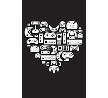 Controller Lover (White on Black) Photographic Print