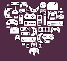 Controller Lover (White on Purple) by pinksage
