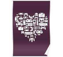 Controller Lover (White on Purple) Poster