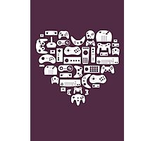 Controller Lover (White on Purple) Photographic Print
