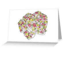 Iced Flower Heart Biscuit Greeting Card