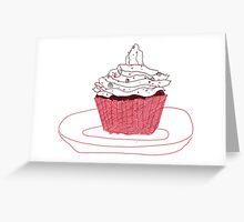Red Velvet Vegan Cupcake Greeting Card