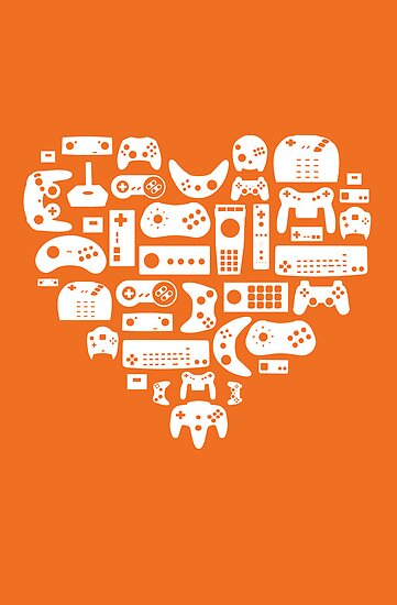 Controller Love (White on Orange) by pinksage