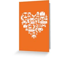 Controller Love (White on Orange) Greeting Card