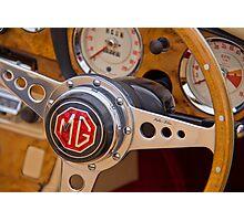 Behind the Wheel - An MGA Sports Car Photographic Print