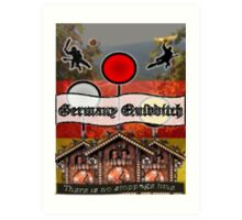 Germany Quidditch Art Print