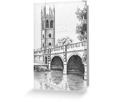 Magdalen Bridge Greeting Card