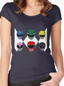 Mighty Morphin' Power Rangers Women's Fitted Scoop T-Shirt