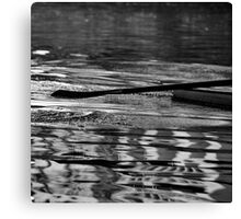 Ripples along the river Canvas Print