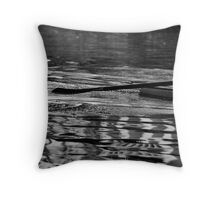 Ripples along the river Throw Pillow