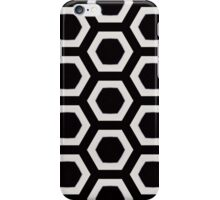 Contemporary Black and White Hexagons iPhone Case/Skin