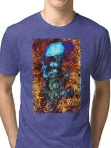 Skull and Flowers Tri-blend T-Shirt