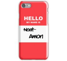 Hello, my name is Amon iPhone Case/Skin