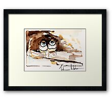 Double Bar Finches Framed Print