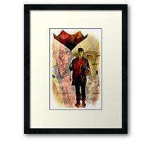 Technicolor Rain ~ Buster Keaton Framed Print