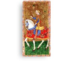 Medieval Nobleman on horseback Canvas Print