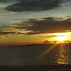 Sunset In The Philippines by Kim Vaughn Sowards