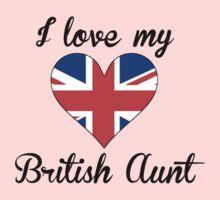 I Love My British Aunt Kids Tee
