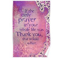 If the Only Prayer... Poster