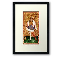 Medieval Page boy Framed Print