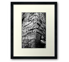 Secret Language- Self Portrait Abandoned Monastery Framed Print