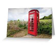 English Telephone Box Greeting Card