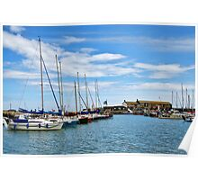 A Touch Of Blue ~ Lyme Regis Harbour Poster