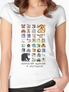 Monster Hunter 4 Ultimate 'Hunt Me' Design Women's Fitted Scoop T-Shirt