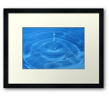 Blue Drop Framed Print