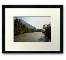 The mighty river Lech Framed Print
