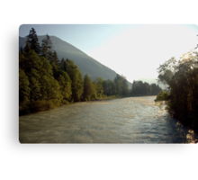 The mighty river Lech Canvas Print