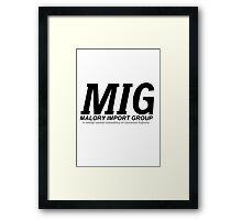 Malory Import Group Framed Print