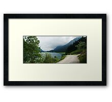 Quiet walk along the lake... Panorama Framed Print
