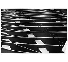 Row, row, row of boats Poster