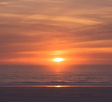 Sunset at the beach by CarlaSophia