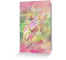 Sweet Sixteen Birthday Greeting Card - Rosebud Greeting Card